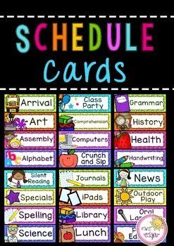 classroom schedule cards editable classroom schedule