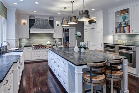 White Traditional Cottage Kitchen Design With A Twist