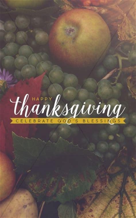 thanksgiving celebrate gods blessing religious bulletin
