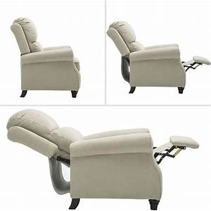 Bonzy Manual Recliner Chair Roll Arm And Pushback