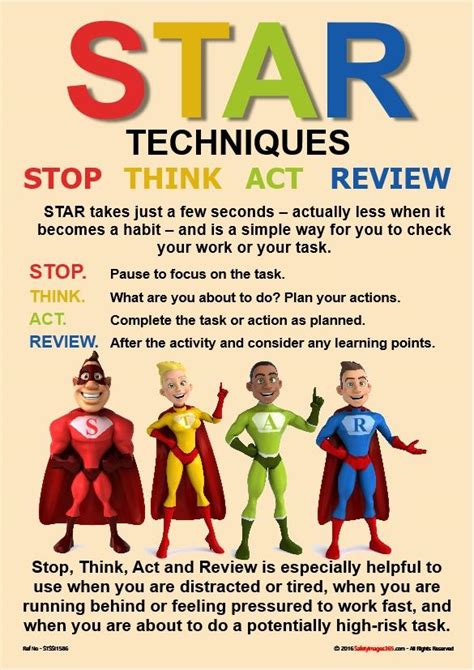 star safety poster stop  act  review