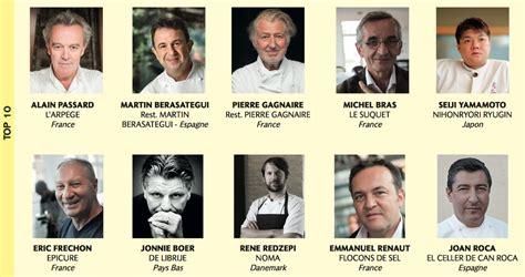 les chefs de cuisine francais les classement des 100 chefs 2017 par le magazine le chef
