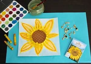 Mixed Media Sunflower Art Project | Make and Takes