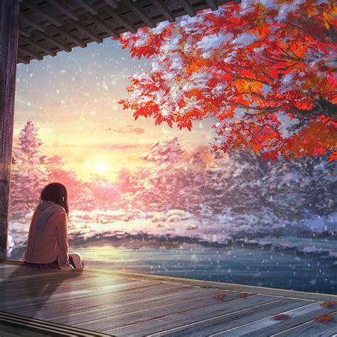 Anime Winter Scenery Wallpaper - in the snow anime 1080p wallpaper engine free
