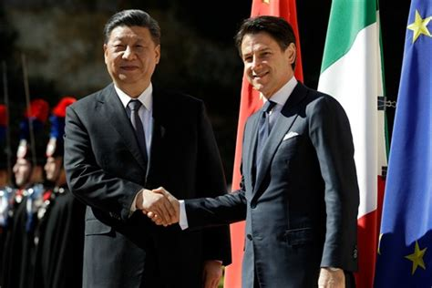 France médias monde graphics studio/reuters | chinese president xi jinping and italian pm giuseppe conte. Italy's Belt and Road Deal With China Widens Rifts in the ...