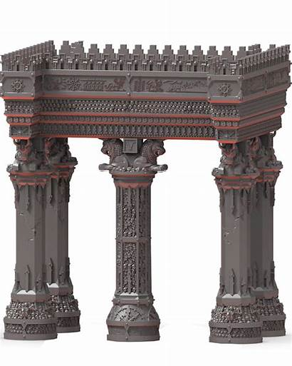 Ziggurat Columns Dwarves Infernal