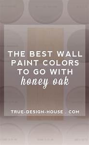 The best wall paint colors to go with honey oak true for Best brand of paint for kitchen cabinets with lilac wall art