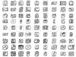 Inka Symbole Bedeutung : maya glyph motifs stock vector colourbox ~ Orissabook.com Haus und Dekorationen