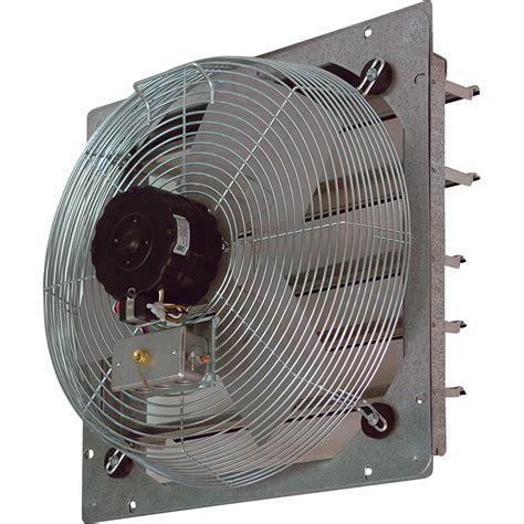 exhaust fan with shutter tpi shutter mounted direct drive exhaust fan 20in