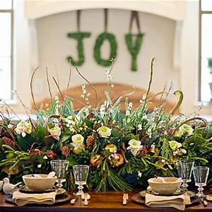 Fresh Greenery Fruit and Flower Centerpiece Idea House