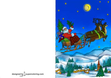 santa claus flying   sleigh pulled  christmas
