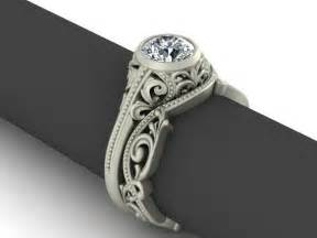 vintage wedding ring sets vintage style sterling silver and cz wedding set engagement ring and