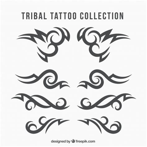 ethnic tribal tattoo collection vector