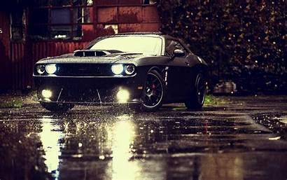Dodge Rain Challenger Cars Srt Sports Lights
