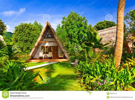 Bungalow In Hotel At Tropical Beach Stock Images Image