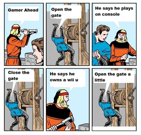 Wii U Meme - wii u master race open the gate know your meme