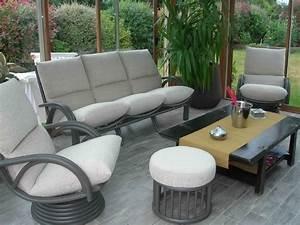 Salon De Veranda : salon rotin interieur maison design ~ Teatrodelosmanantiales.com Idées de Décoration