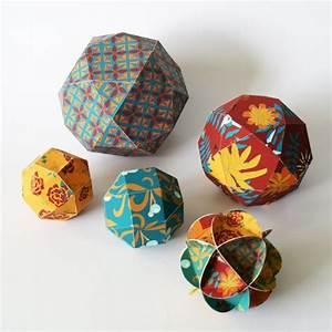 Boule En Papier : des boules de no l en papier t l charger marie claire ~ Teatrodelosmanantiales.com Idées de Décoration