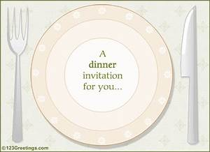 A Dinner Invitation Free Party Invitations eCards, Greeting Cards 123 Greetings