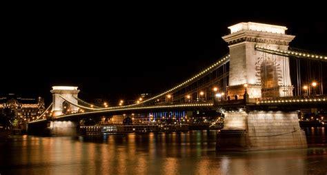Travel Trip Journey Széchenyi Chain Bridge In Budapest