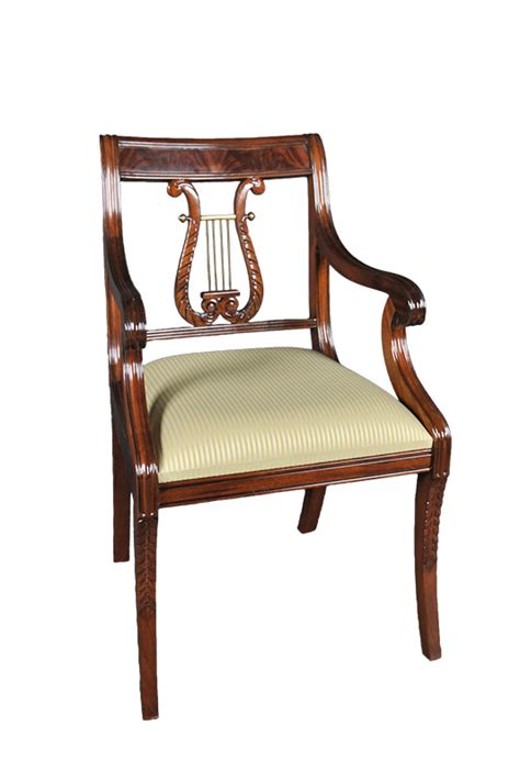 mahogany lyre back chairs set of 6 carved mahogany solid wood dining chairs