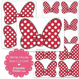 Printable Minnie Mouse Bow Cut Outs from PrintableTreats ...