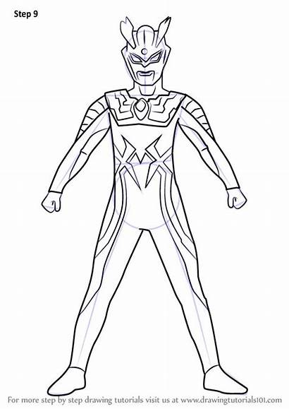 Ultraman Drawing Coloring Draw Pages Learn Zero