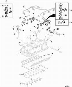Mercruiser 496 Mag  H O  Model  Intake Manifold Parts