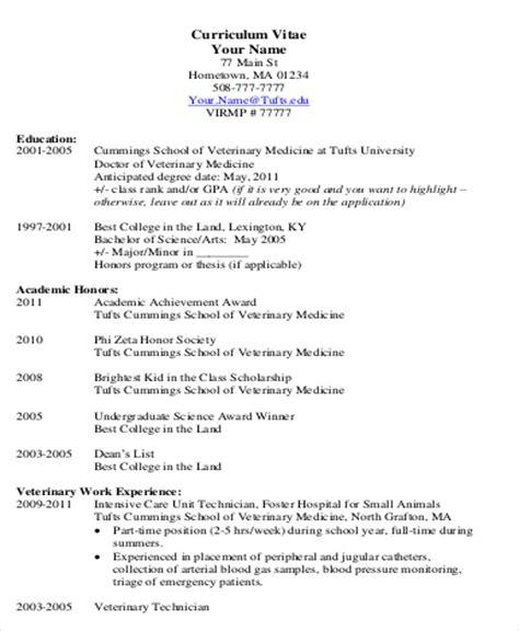 student cv sle 7 exles in word pdf