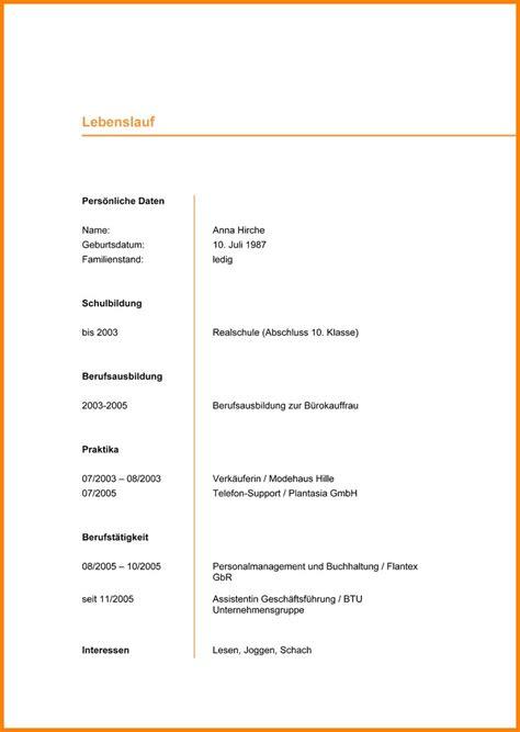 Vordrucke Bewerbung Und Lebenslauf by 14 Lebenslauf Vordruck Zum Ausf 252 Llen Real Mofscotland