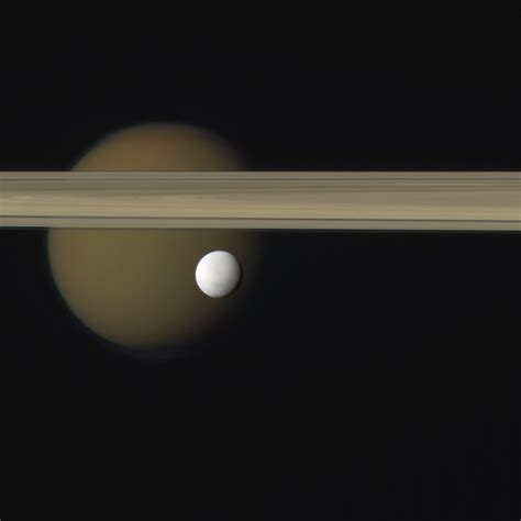 Photo Treat: Enceladus, Titan And Saturns Rings | Space