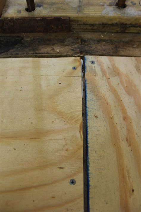 Fill gaps larger than 1/8 inch with a sanded caulk. *The Handcrafted Life*: Downstairs Bath Rennovation: We Have Floors!