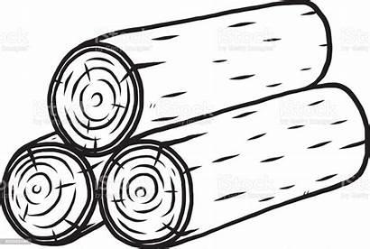 Log Wooden Clipart Half Vector Illustration Business
