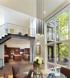 Double, Height, Living, Space, With, A, Mezzanine, Level, Opening, Up, To, Rear, Terrace, Next, To, The, Maples