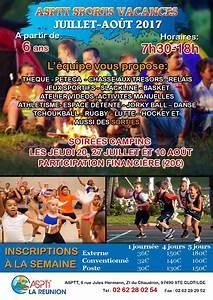 Vacances Juillet 2017 : les sports vacances de juillet aout a l asptt asptt la r union ~ Medecine-chirurgie-esthetiques.com Avis de Voitures