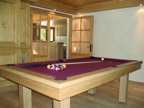 photo billard lafuge billard table loft chene massif naturel tapis bordeau