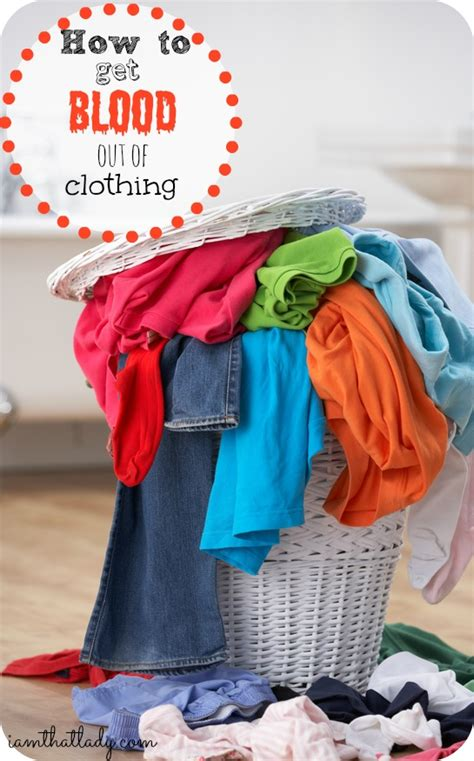 blood clothes remove stains simple cleaning tip frugal series