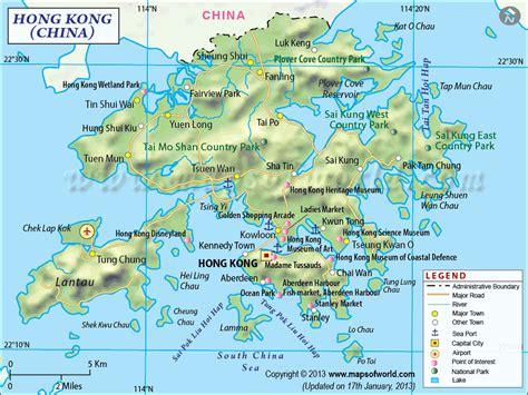 mapa de hong kong carte du monde mapas hong kong