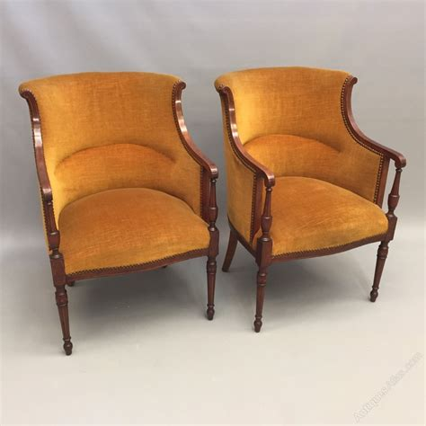 vintage tub chairs pair of directoire style tub armchairs antiques atlas 3262