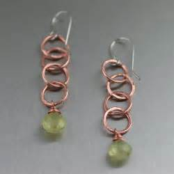 handmade chandelier earrings unique handcrafted copper jewelry designs