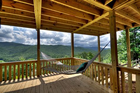 Hammock On Deck by Deck Porch Tour Above The Clouds Cabin Blue Ridge Ga