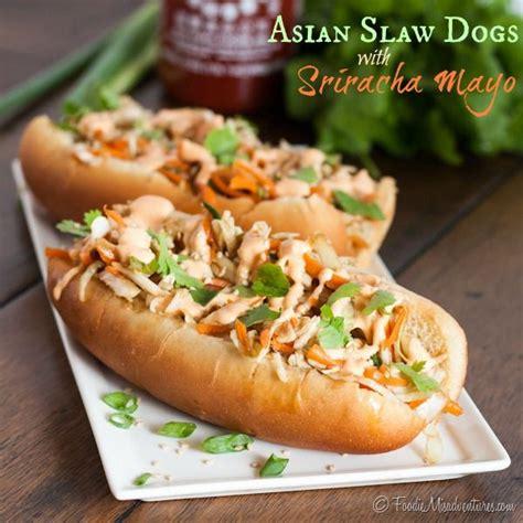 how to make sriracha mayo asian slaw dogs with sriracha mayo recipe homemade