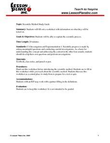 scientific method study guide worksheet for 8th 10th