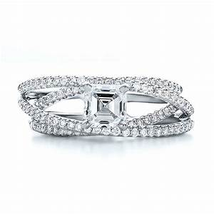 custom pave diamond multi band engagement ring 100612 With multiple band wedding rings