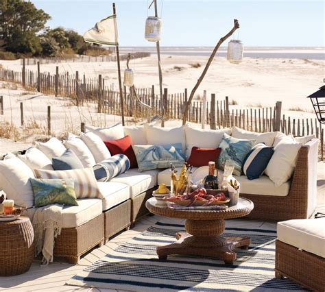 pottery barn outdoor furniture designing outdoor living room w palmetto sectional by