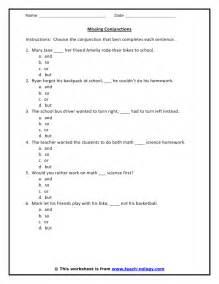 Printable Conjunction Worksheets 5th Grade