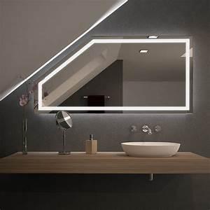 Beleuchtung Für Küchenoberschränke : spiegel f r dachschr gen mit led beleuchtung fiola 989707058 ~ Michelbontemps.com Haus und Dekorationen
