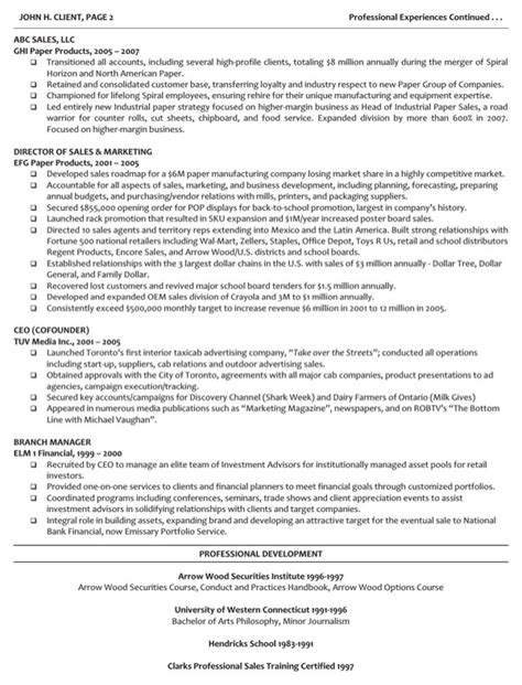 Managing Director Resume Sle by Executive Managing Director Resume For Free