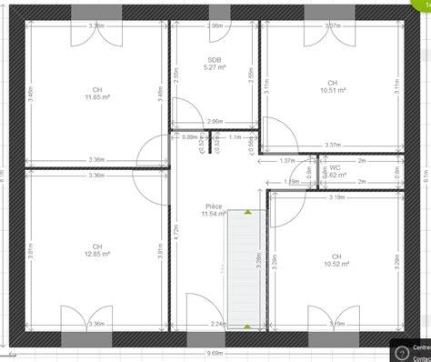 plan de maison plain pied 5 chambres avis plan maison 122m2 r 1 avec comble aménageable 5