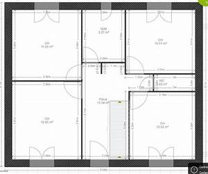 avis plan maison 122m2 r1 avec comble amenageable 5 With plan maison r 1 100m2 5 plan de maison r 1 au senegal